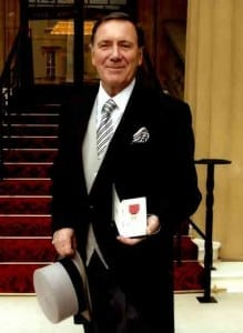 Derek Hathaway receives his OBE