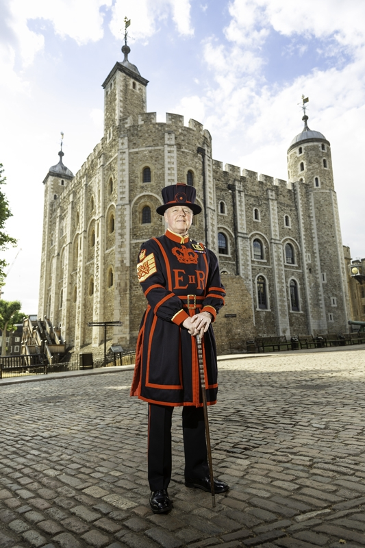 Former Moseley Modern School pupil Peter McGowran,  Chief Yeoman Warder HM Tower of London