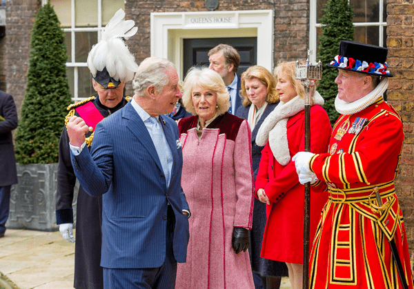 Peter McGowran with HRH Prince Charles at the Tower of London